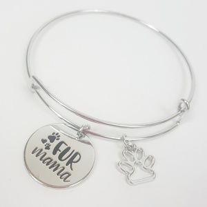 Jewelry - NEW Fur Mama Dog Mom Cat Mom Bracelet Bangle